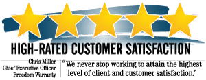 High-Rated Customer Satisfaction from Freedom Warranty