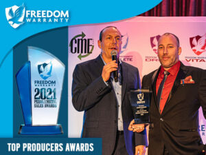 Freedom Warranty Names Top Producers in 2020