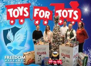 Freedom Warranty Joins Toys For Tots Campaign